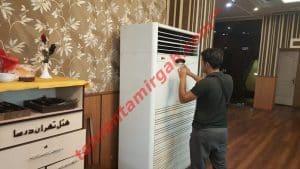 چرا کولر گازی باد گرم میزند